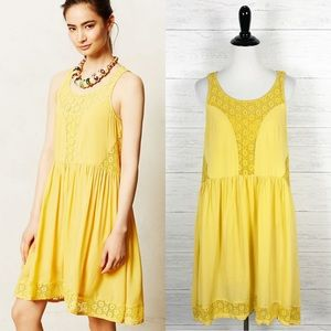 Lilka • Yellow Matepe Lace Breezy Dress